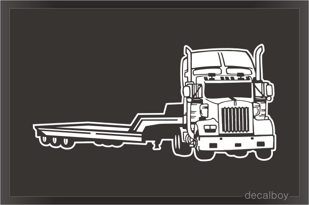 Heavy Duty Flatbed Truck Decal