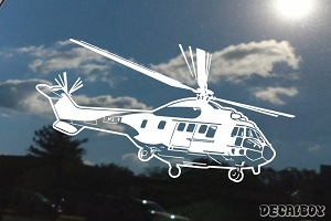 Helicopter Mi17 Window Decal