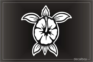 Hibiscus Turtle Decal