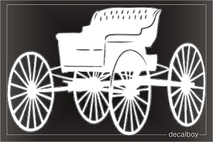 Horse Open Carriage Car Decal