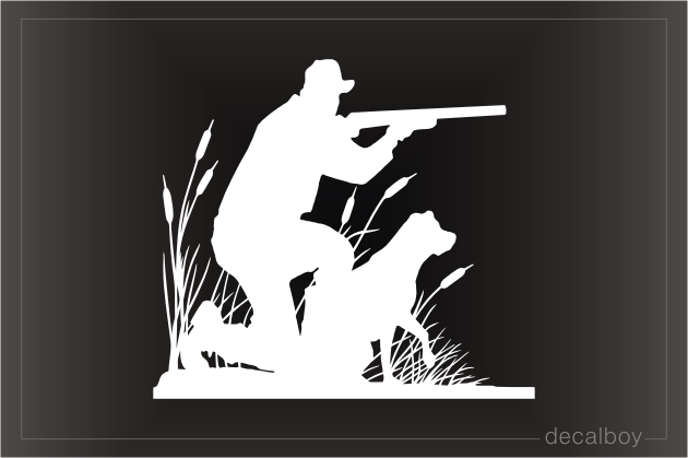 Hunter Aiming Gun Decal