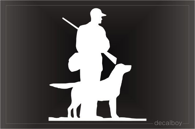 Hunter With Dog Decal
