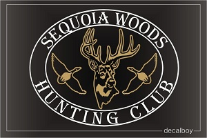 Hunting Club Logo Car Decal