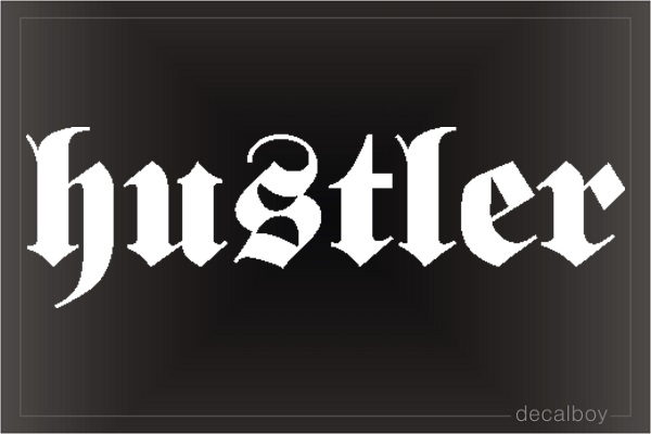 Hustler Car Decal