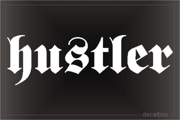 Hustler Decal