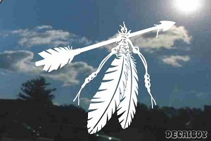 Indian Arrow Feathers Beads Decal