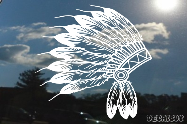 Indian Chief Feathers Decal