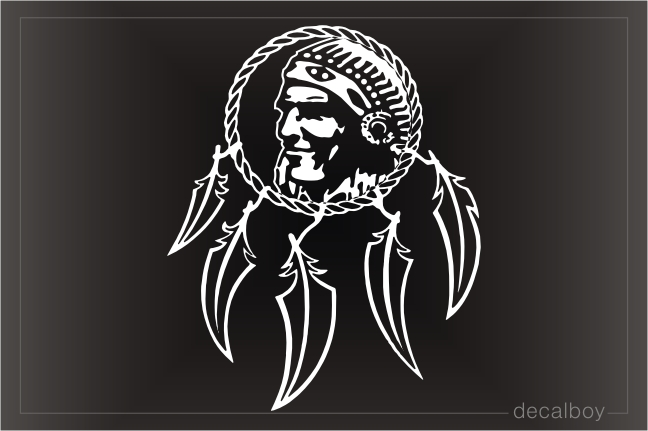 Indian Dream Catcher Decal