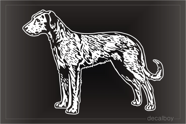 Irish Wolfhound Decal