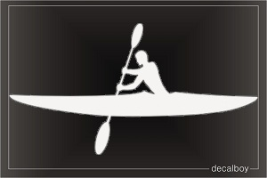 Kayaking Sport Window Decal