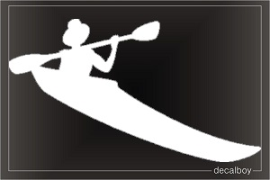 Kayaking Adventure Window Decal