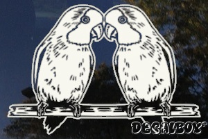 Kissing Lovebirds Window Decal