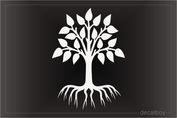 Know Your Roots Tree Decal