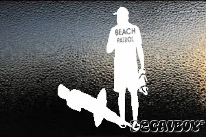 Lifeguard Beach Patrol Car Window Decal