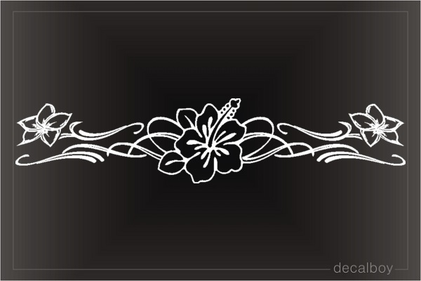 Lily Decorative Flower Window Decal
