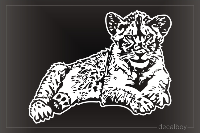 Lion Cub Window Decal