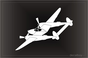 Lockheed P38 Lightning Aircraft Decal