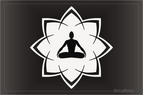 Lotus Yoga Decal