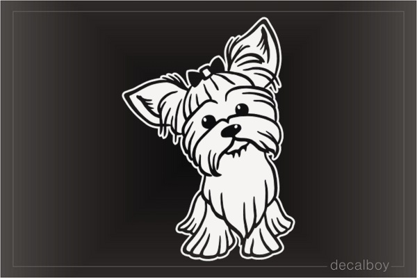 Lovely Yorkie Yorkshire Terrier Puppy Decal