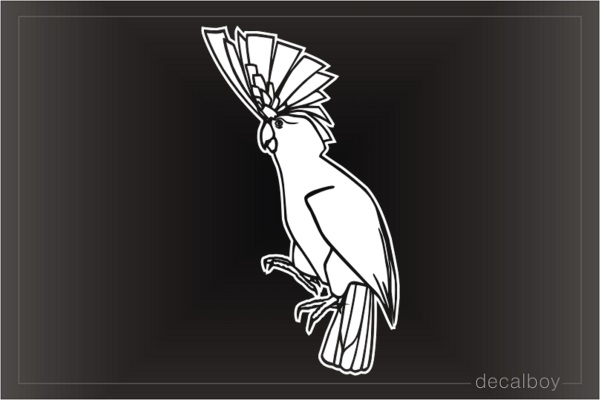Major Mitchell Cockatoo Parrot Decal