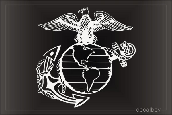 USMC Marines Decal Sticker Veteran Military Car Truck Window Laptop