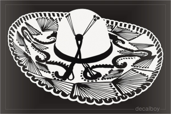 Mexican Sombrero Hat Decal