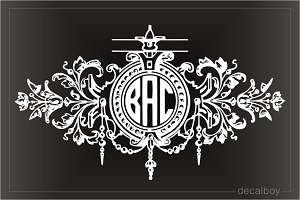 Monogrammed Ornament Decal