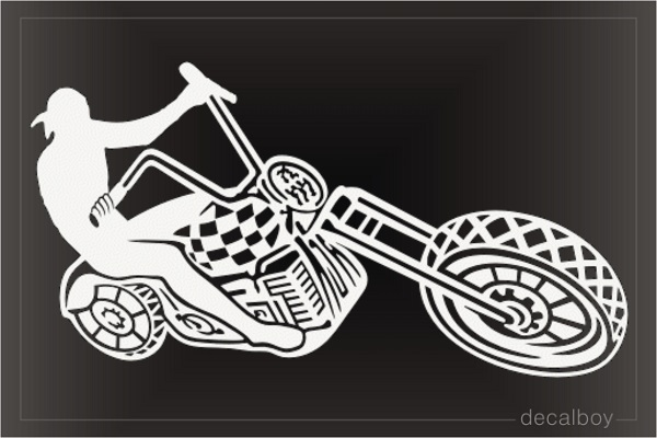 Motorcycle Chopper Decal
