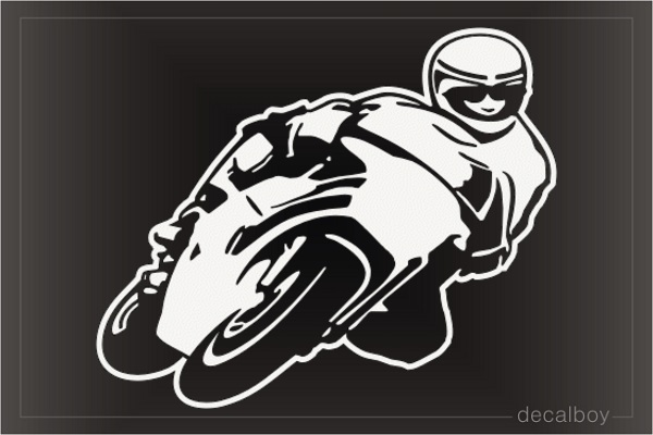 Motorcycle Racer Decal