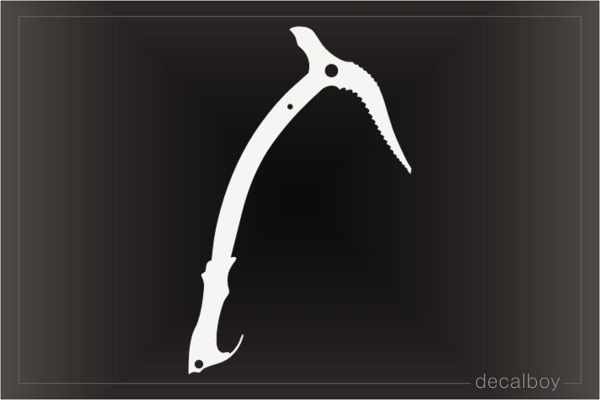 Mountain Climbing Axe Decal