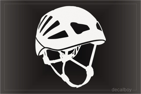 Mountain Climbing Helmet Decal