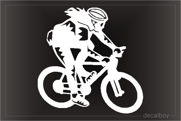 Mountain Biker Window Decal