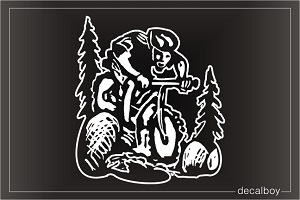 Mountain Biker 3 Window Decal