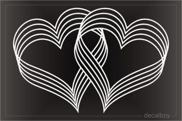 Music Lines Love Hearts Decal