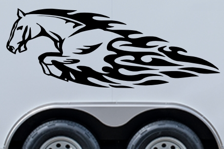 Mustang Flames Trailer Decal