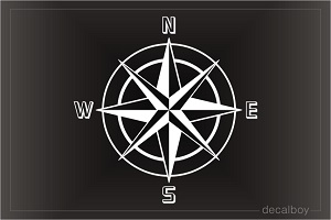 Navy Nautical Marine Compass Decal