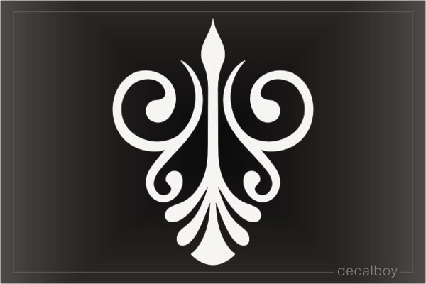 Old English Ornament Decal