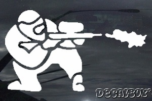 Paintball Shooting Sport Car Window Decal