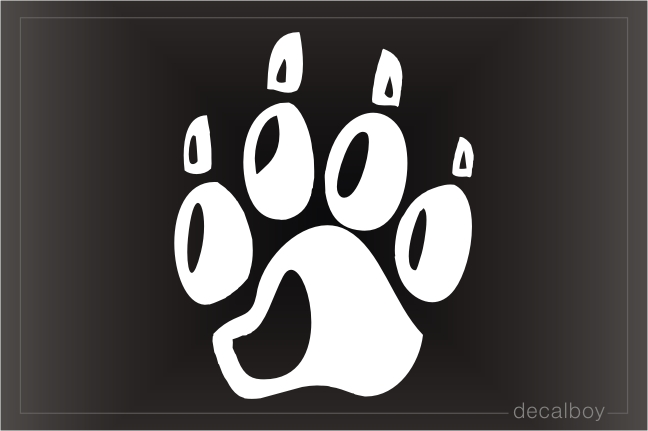 Panther Paws Window Decal
