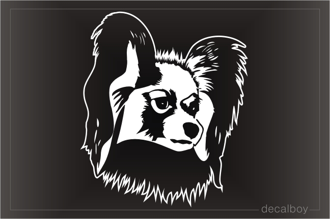 Papillon Outline Decal