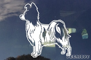 Papillon Window Decal