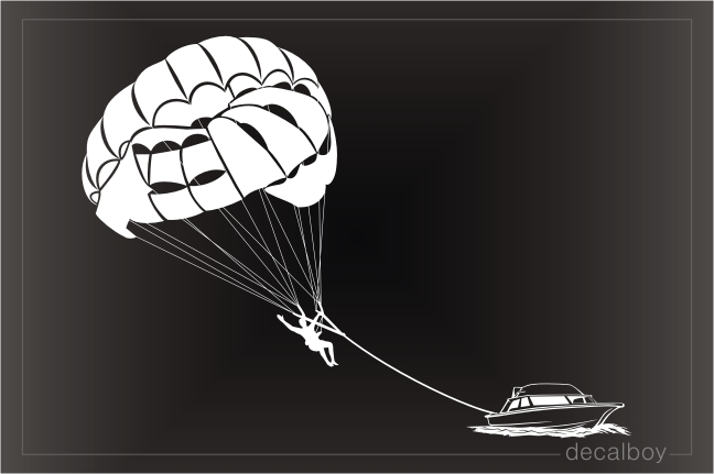 Parasailing Parascending Water Parachute Decal