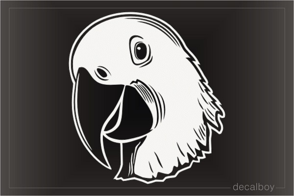 Parrot Face Decal