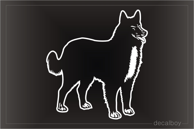 Pastor Belga Belgian Shepherd Dog Car Window Decal