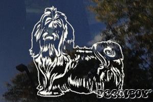 Pekingese 53 Car Window Decal