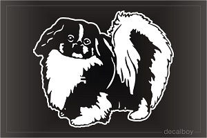 Pekingese Car Window Decal