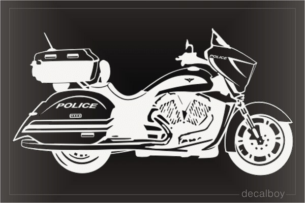 Police Motorcycle Car Decal