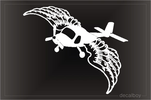 Private Pilot Angel Wings Car Decal