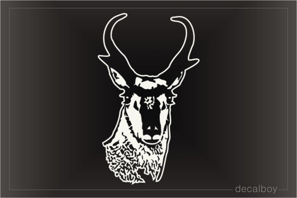 Pronghorn Deer Head Window Decal