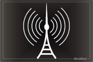 Radio Tower Electronic Car Decal
